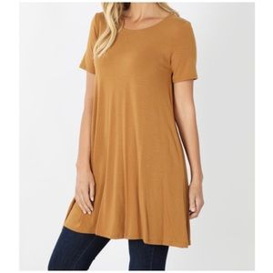 NEW Plus Size Cappuccino tunic with pockets